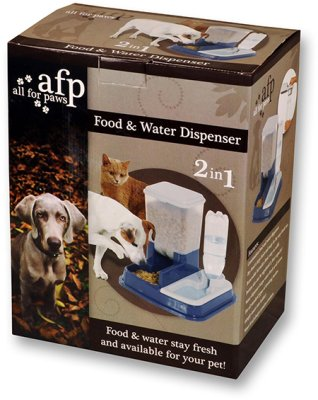 Vann og matdispenser